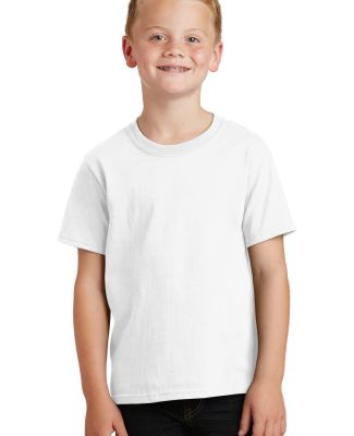 Port  Company Youth 54 oz 100 Cotton T Shirt PC54Y White