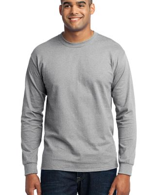 Port  Company Long Sleeve 5050 CottonPoly T Shirt  Ash