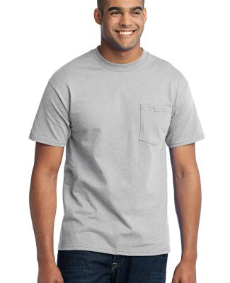 Port  Company 5050 CottonPoly T Shirt with Pocket  Ash