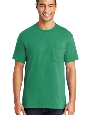 Port  Company 5050 CottonPoly T Shirt with Pocket  Kelly