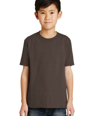 Port  Company Youth 5050 CottonPoly T Shirt PC55Y Brown