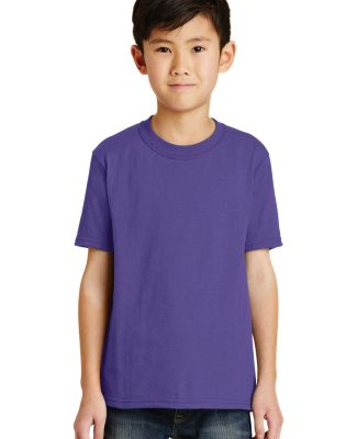 Port  Company Youth 5050 CottonPoly T Shirt PC55Y Purple