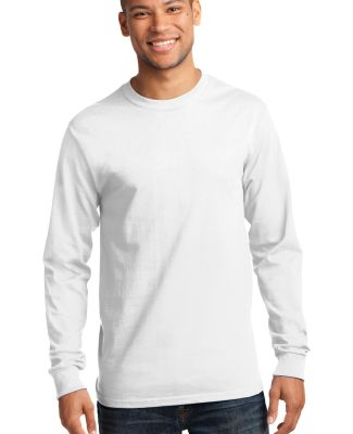 Port  Company Long Sleeve Essential T Shirt PC61LS White