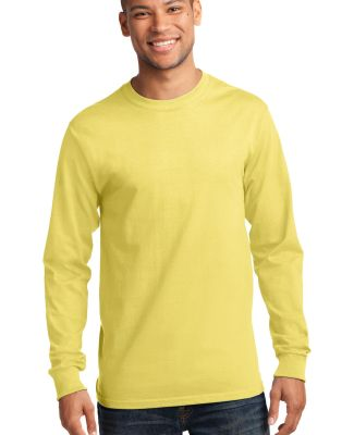 Port  Company Long Sleeve Essential T Shirt PC61LS Yellow