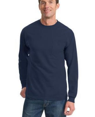 Port  Company Long Sleeve Essential T Shirt with Pocket PC61LSP Catalog