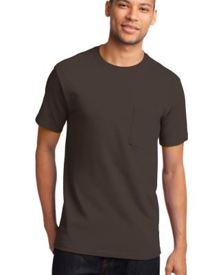 Port  Company Essential T Shirt with Pocket PC61P Brown