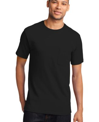Port  Company Essential T Shirt with Pocket PC61P Jet Black