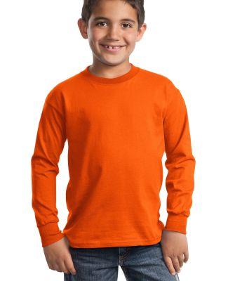 Port  Company Youth Long Sleeve Essential T Shirt  Orange