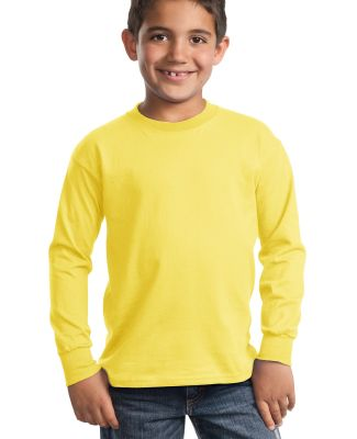 Port  Company Youth Long Sleeve Essential T Shirt  Yellow