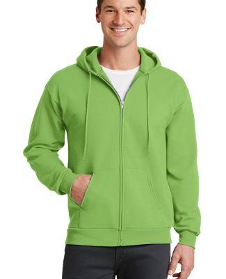 Port  Company Classic Full Zip Hooded Sweatshirt P Lime