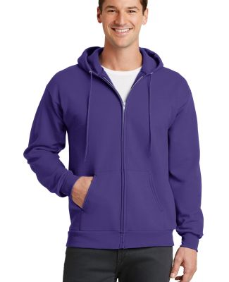 Port  Company Classic Full Zip Hooded Sweatshirt P Purple