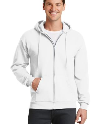 Port  Company Classic Full Zip Hooded Sweatshirt P White
