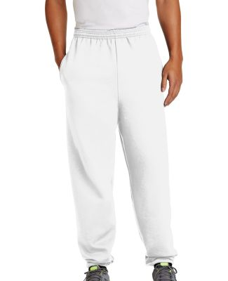 Port  Company Ultimate Sweatpant with Pockets PC90 White