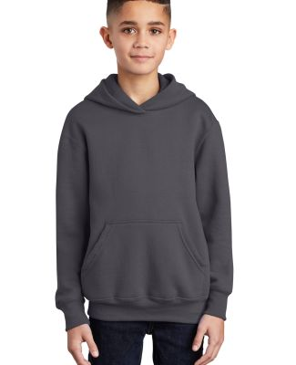 Port  Company Youth Pullover Hooded Sweatshirt PC9 Charcoal