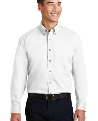 Port Authority Long Sleeve Twill Shirt S600T White