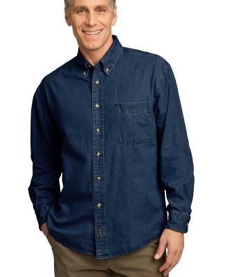 Port  Company Long Sleeve Value Denim Shirt SP10 Ink
