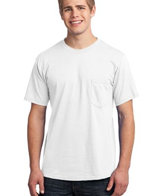 Port  Company All American Tee with Pocket USA100P White