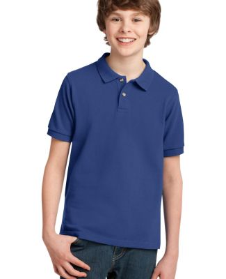 Port Authority Youth Pique Knit Polo Y420 Royal