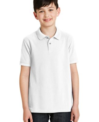 Port Authority Youth Silk Touch153 Polo Y500 White
