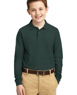 Port Authority Youth Long Sleeve Silk Touch153 Pol Dark Green