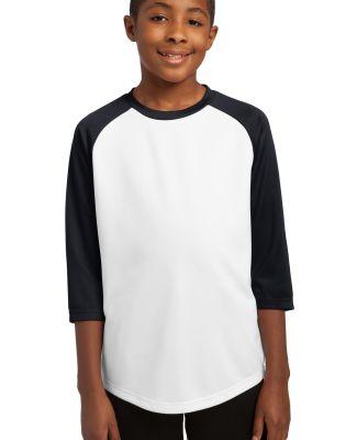 Sport Tek Youth PosiCharge153 Baseball Jersey YST2 White/Black