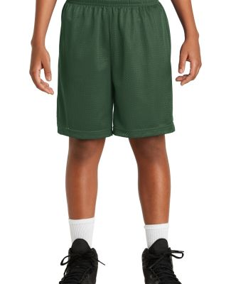 Sport Tek Youth PosiCharge Classic Mesh 8482 Short Forest Green