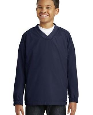 Sport Tek Youth V Neck Raglan Wind Shirt YST72 Catalog