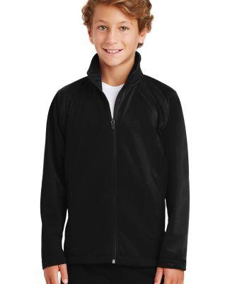 Sport Tek Youth Tricot Track Jacket YST90 Black/Black