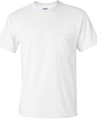 2300 Gildan Ultra Cotton Pocket T-shirt WHITE