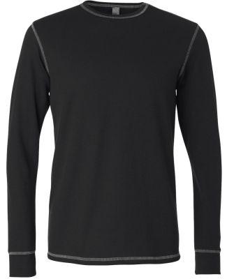 BELLA+CANVAS 3500 Mens Long Sleeve Thermal BLACK/ GREY