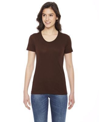 BB301 American Apparel Womens Poly Cotton Short Sl Brown