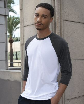 BB453 American Apparel Unisex Poly Cotton 3/4 Sleeve Raglan Catalog