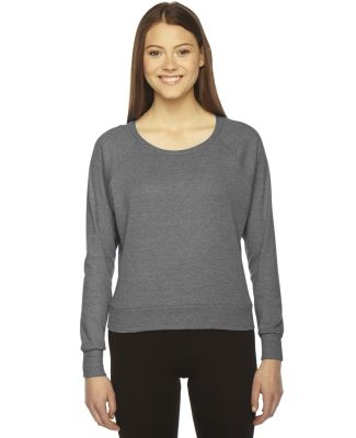 BR394 American Apparel Tri-Blend Lightweight Ragla Athletic Grey