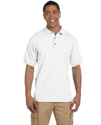 Gildan 3800 Ultra Cotton Pique Knit Sport Shirt WHITE