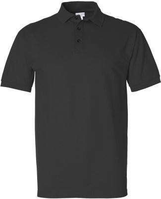 6002 Cotton Deluxe by Anvil Pique Sportshirt Black (Discontinued)