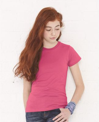 2616 LA T Girls' Fine Jersey Longer Length T-Shirt Catalog