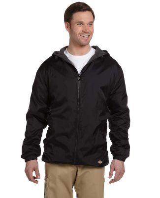 33237 Dickies Adult Fleece-Lined Ripstop Jacket BLACK