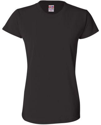 3325 Bayside Ladies' Short-Sleeve Tee Black