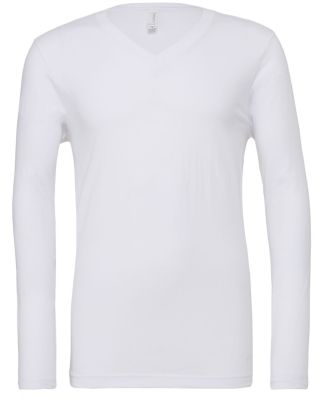 BELLA+CANVAS 3425 Mens Tri-Blend Long Sleeve V-Nec WHITE