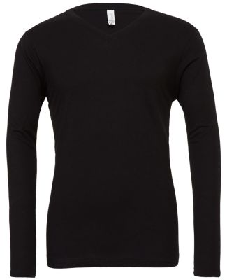 BELLA+CANVAS 3425 Mens Tri-Blend Long Sleeve V-Nec BLACK