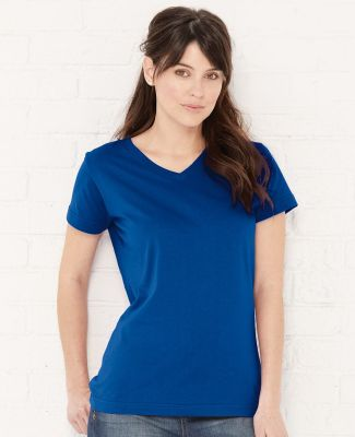 3507 LA T Ladies V-Neck Longer Length T-Shirt Catalog