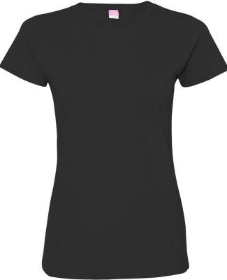 3516 LA T Ladies Longer Length T-Shirt BLACK