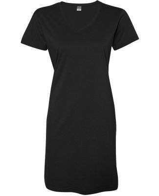 3522 LA T Ladies T-Shirt Dress BLACK
