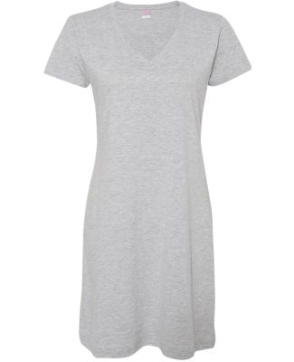 3522 LA T Ladies T-Shirt Dress HEATHER
