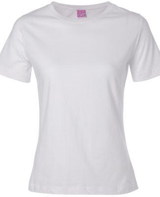 3580 LA T Ladies' Combed Ring-Spun T-Shirt WHITE