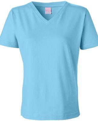 3587 LA T Ladies' V-Neck T-Shirt AQUA
