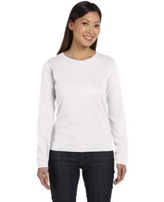 3588 LA T Ladies' Long-Sleeve T-Shirt WHITE
