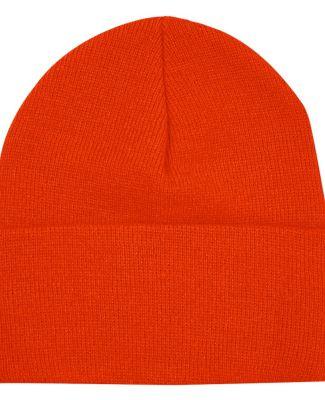 3825 Bayside Knit Cuff Beanie Bright Orange