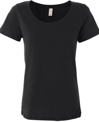 391 Anvil Ladies' Sheer Scoop-Neck Tee Black