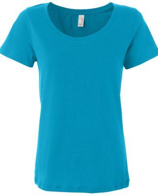 391 Anvil Ladies' Sheer Scoop-Neck Tee Caribbean Blue